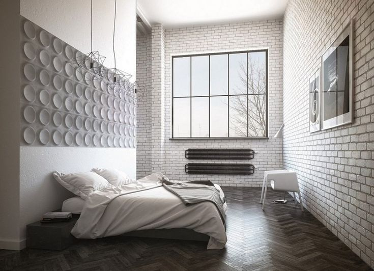 Aranżacja z betonem na ścianie