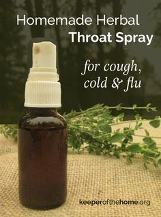 Having this homemade herbal throat spray on hand can help give relief to sore throats and aid healing during cold season! Plus it's easy to whip up and administer considering the other natural remedy options!