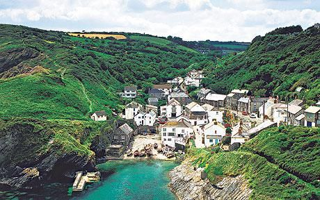 Portloe in Cornwall. A quaint little fishing village with dramatic cliffs and views of the sea. I stayed at a lovely hotel there called The Luggar.