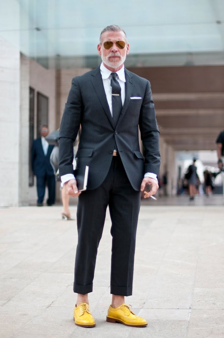 love. love the shoes (i think florsheim by duckie brown). - nick wooster