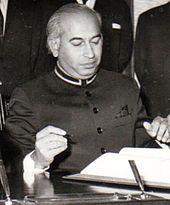 Father of Benazir Bhutto, Zulfikar Ali Bhutto.