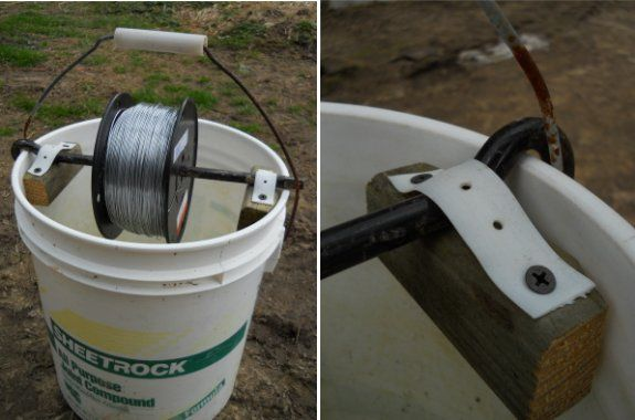 Diy Electric Fence Wire Holder In 2020 Wire Fence Electric Fence Diy Fence