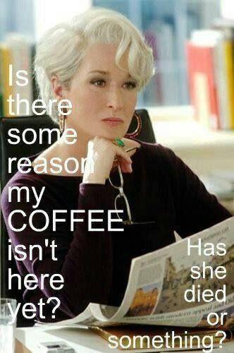 "Meryl Streep in ""The Devil Wears Prada."" Great line! www.espressoaffair.com"