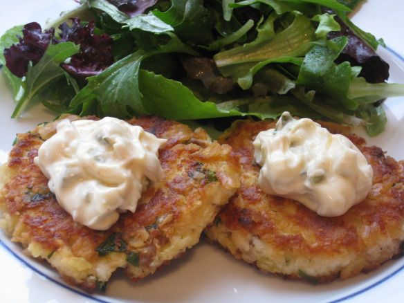 Tilapia Fish Cakes - halved recipe using 3 pcs of fish and made 6 palm size patties. Used Kelloggs cornflake crumbs for mixture and coated in panko  crumbs instead and refrigerated patties until ready to fry. Delicious!