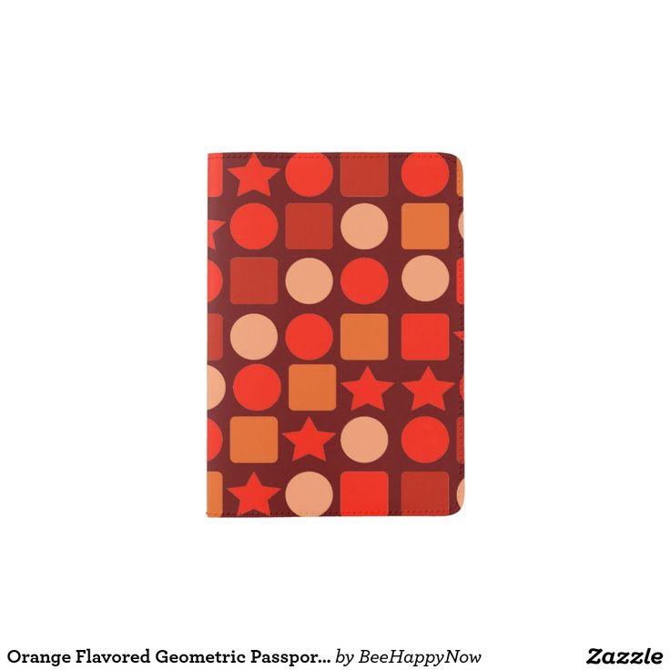 Orange Flavored Geometric Passport Holder