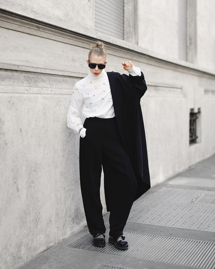 @davidmustard_ calls it my karl lagerfeld outfit   i'm wearing trousers from @aphidlondon ( new fav brand ) @mintandberry top david's @cosstores coat
