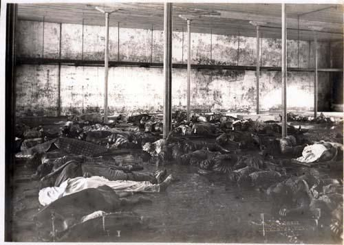 Morgue Photos Of Titanic Victims | Temporary Morgue - Awesome Stories