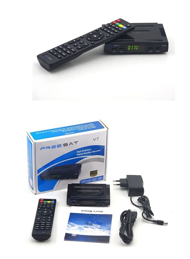 Decodificador satélite Freesat V7 HD receptor DVB-S2 +1 USB WIFI tv Digital