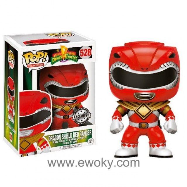 Figura Pop Vinyl Power Rangers Red Ranger Dragon Shield Figura