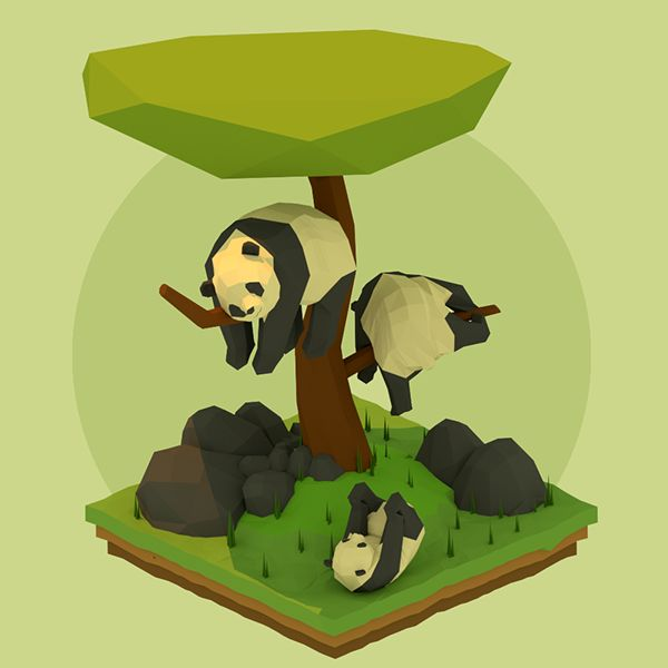 Low Polys - Animals on Behance