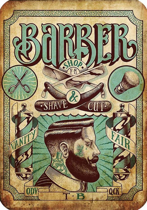 Vintage Barber Posters Barber Shop Interior Barber Poster Vintage Hairdresser