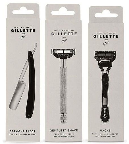 Gillette - rethink packaging! this is great compared to all the plastic packaging today!