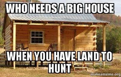 I'd be happy in a storage building house as long as it was in the country with room to hunt. This is obscene.