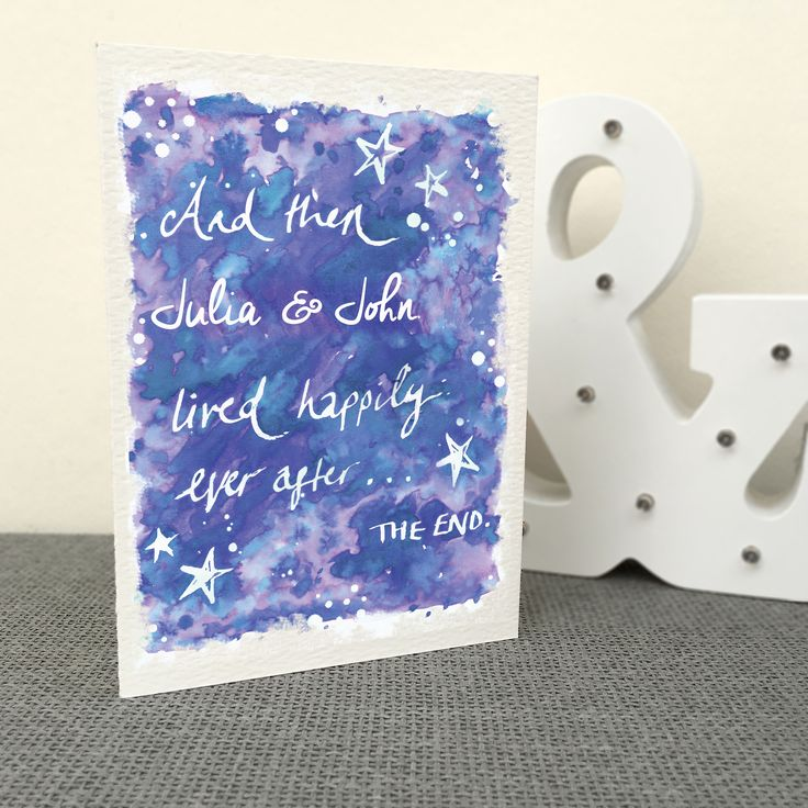 Personalised+'Happily+Ever+After'+Card, £3.95