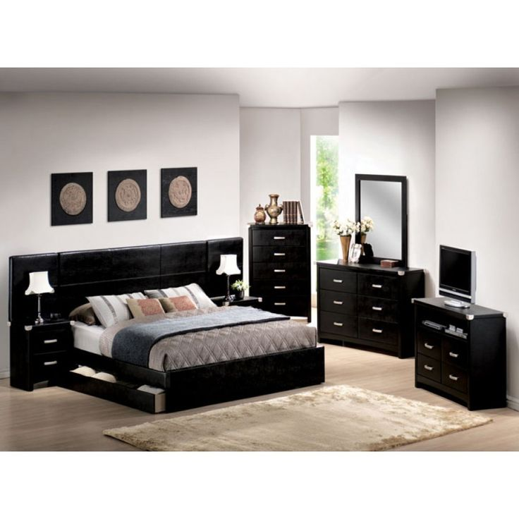 Bedroom Furniture Black And White best 25+ black bedroom sets ideas only on pinterest | black