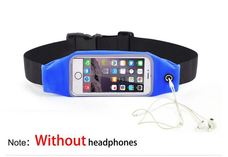 Universal Waterproof Sport GYM Waist Bag Phone Case for iPhone 7 6 6S Plus etc.