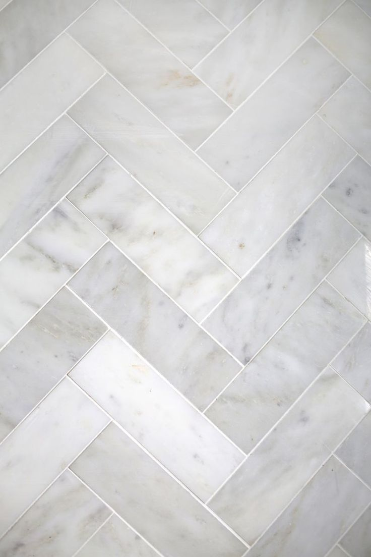 Try This: Herringbone Marble Tile | A Beautiful Mess | Bloglovin' Master bath