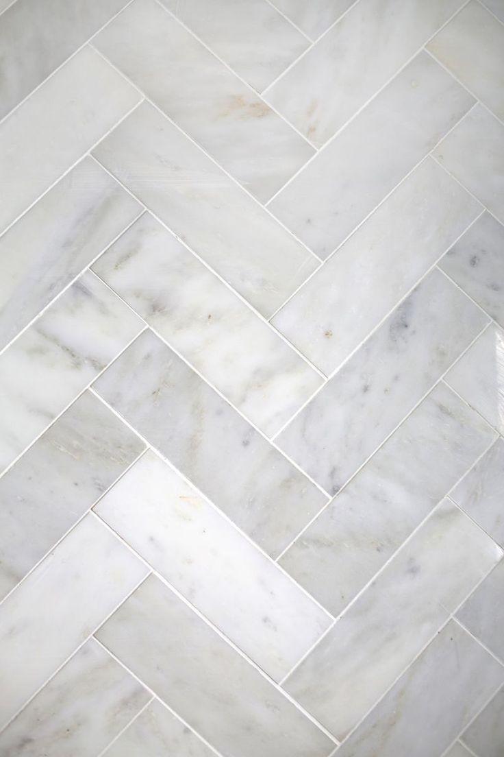Try This Herringbone Marble Tile Bathroom Pinterest Bathroom