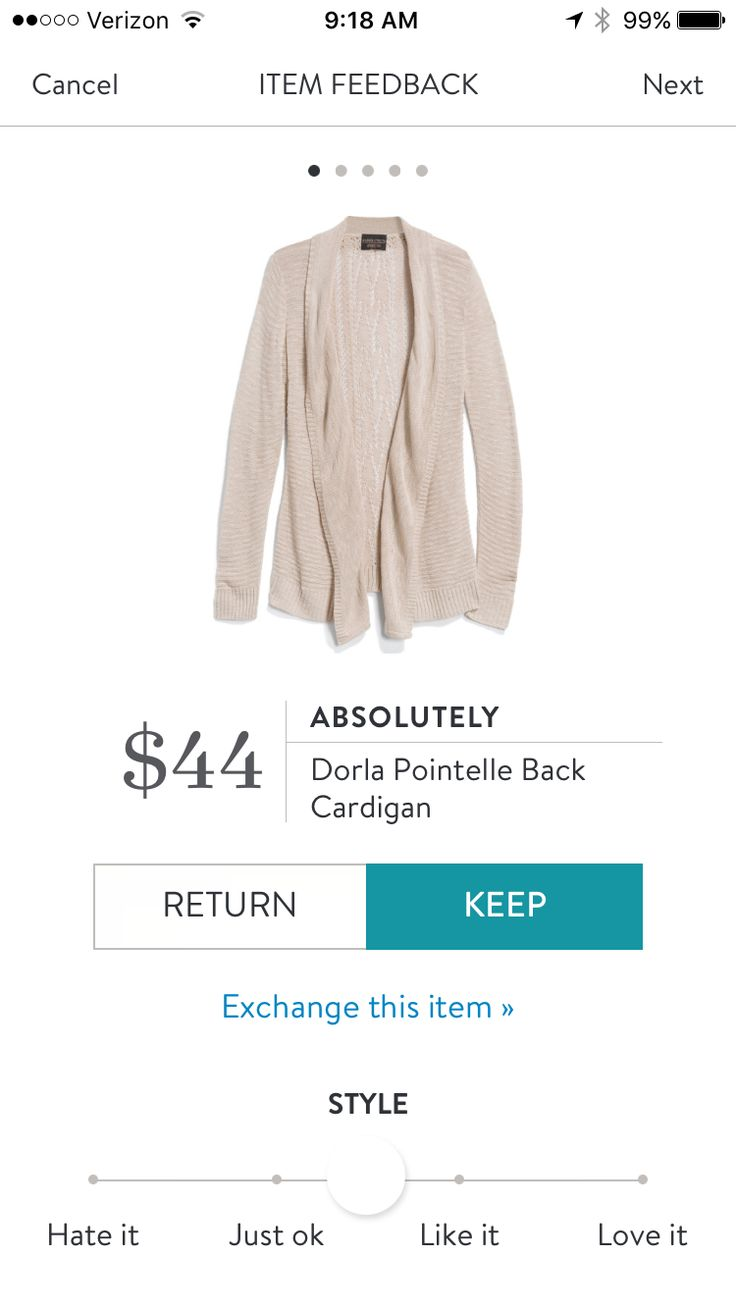 Stitch Fix Stylist: Ok this one may be perfect. Drapey, open front and looks so cozy!!