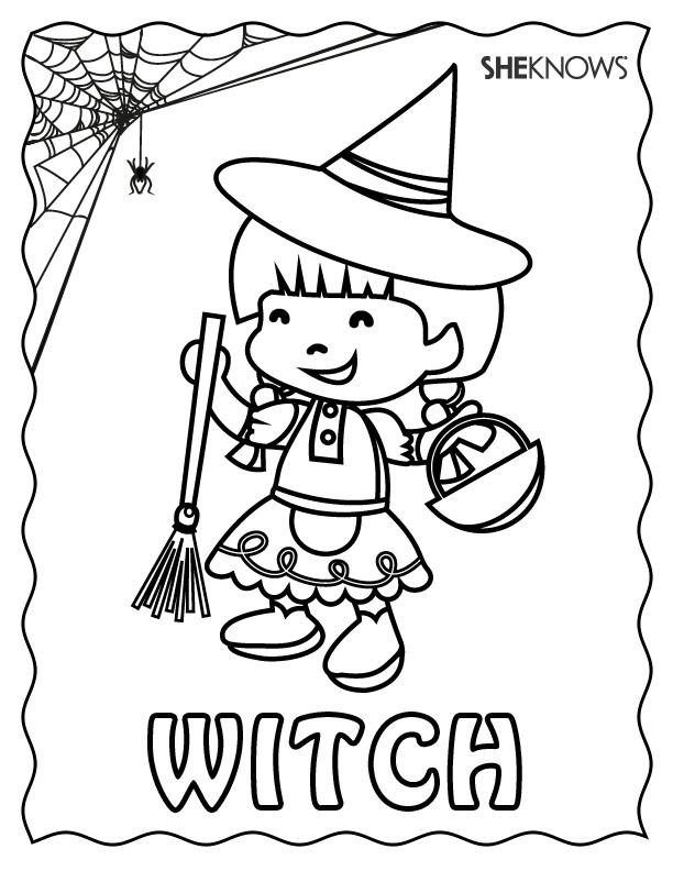 witches coloring pages printables free - 1000 images about halloween on pinterest coloring pages