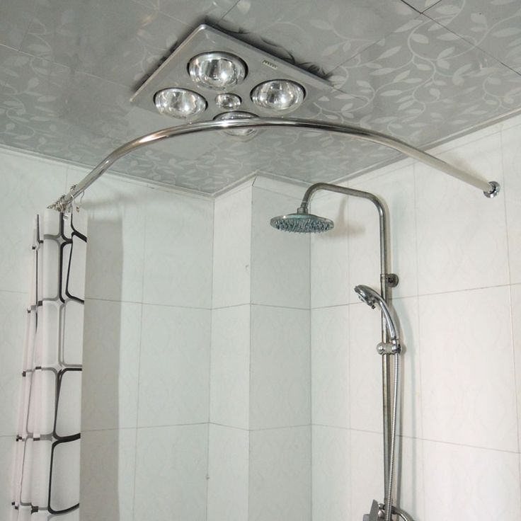 Shower Stall Curtain Rods Curved