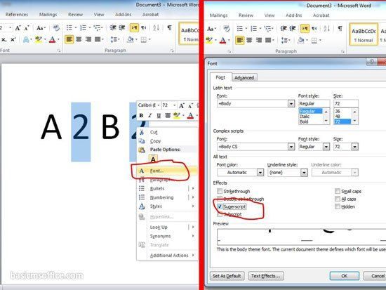 Insert Superscript and Subscript In Microsoft Word Made Simple