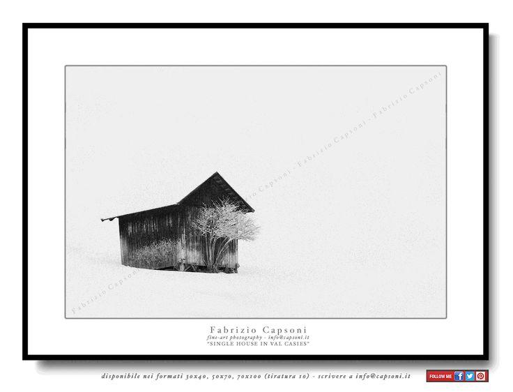 """Single house in Val Casies"" ©2006 FABRIZIO CAPSONI - Fine Art Giclée Print on cotton paper - Limited edition - #fotografia #fineart #art #Interiors #homedecor"