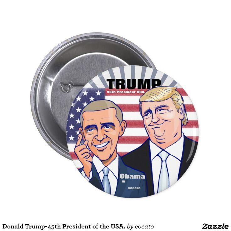 Donald Trump-45th President of the USA. 5.7cm 丸型バッジ