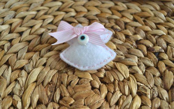 Felt Brooch Little Dress Pink or White with Evil by Poppysstuff, €7.00