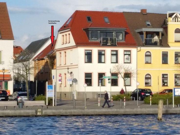 """3-Sterne Ferienwohnung """"Yachthafen"""" in Waren an der Müritz, überdachte Terrasse, Weinprobe auf Anfrage, Brötchenservice, Grill, Wellness und Kur."""