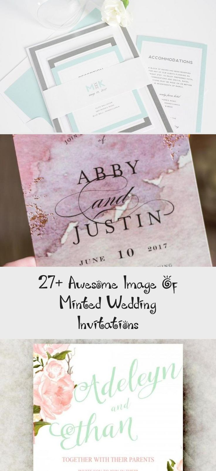 27+ Awesome Image of Minted Wedding Invitations Minted