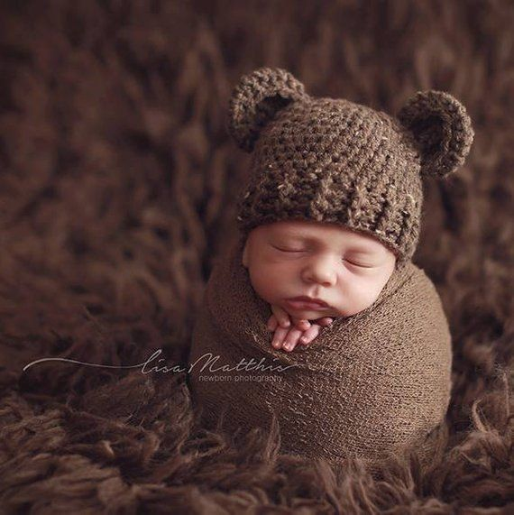 9fd9ac209 Baby Bear Hat, Boy Hat, Bear outfit, Bear costume, Teddy Bear, Newborn,  Brown Bear hat, Knit bear, P