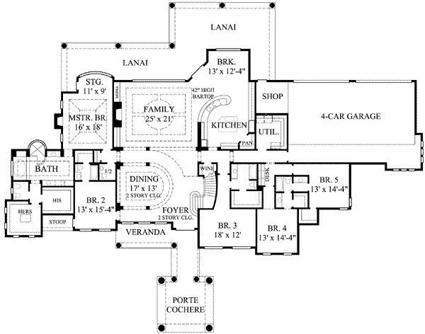 Feet 7 Bedrooms Batrooms 4 Parking Space On 2 Levels House Plan