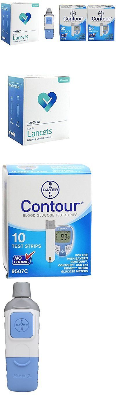 Monitoring Kits: Owell Bayer Contour 100 Test Strips + Lancing Device + 100 Lancets Diabetic Test -> BUY IT NOW ONLY: $49.31 on eBay!