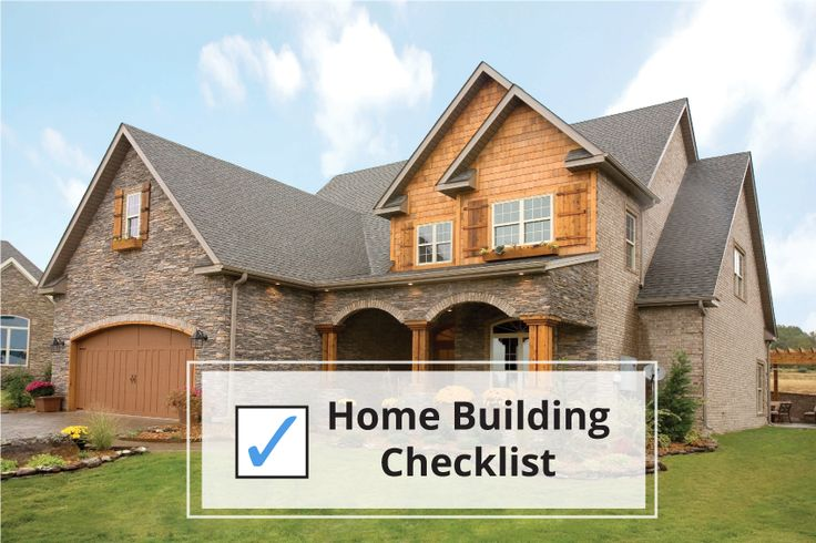 Best 25 new home checklist ideas only on pinterest new for Construction checklist for building a house
