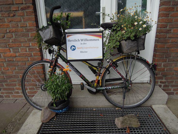 Welkome bike, Youth hostel Rheine, Germany