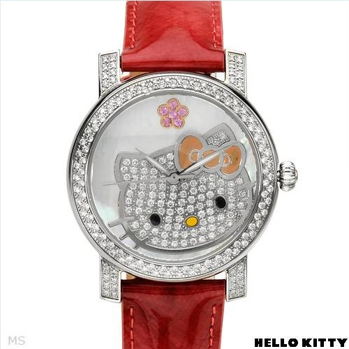 $1,029.00  HELLO KITTY Brand New Watch With 1.95ctw Precious Stones - Genuine  Clean Diamonds, Mother of pearl and Sapphires  - Certificate Available.