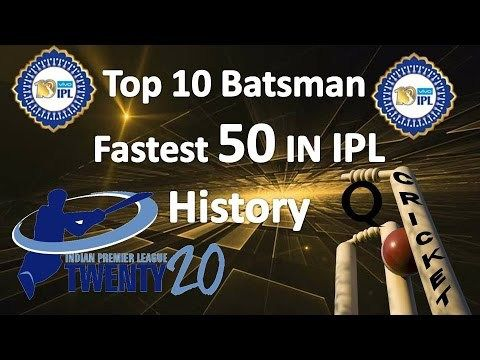 Top 10 Fastest Fifties in IPL Cricket History | Fastest 50 in T20 Cricket Top 10 fastest fifties in IPL Top 10 fastest fifties in IPL: The Indian Premier League (IPL) has brought all new flavor and included part more start in worthiness of T20 cricket. In the course of the most recent 7 years...