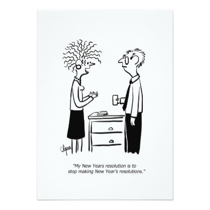 No Resolutions New Year's Day Card - New Year's Eve happy new year designs party celebration Saint Sylvester's Day