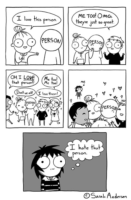 I Love/Hate this person | Sarah's Scribbles By Sarah Andersen [Comic - Drawing - Illustration - Funny]