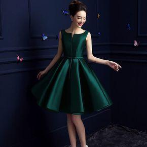 2016 nuevo diseño de Una Línea de vestidos cortos v-apertura back cocktail party dress lace-up veatidos de fiesta Caliente la venta del envío libre