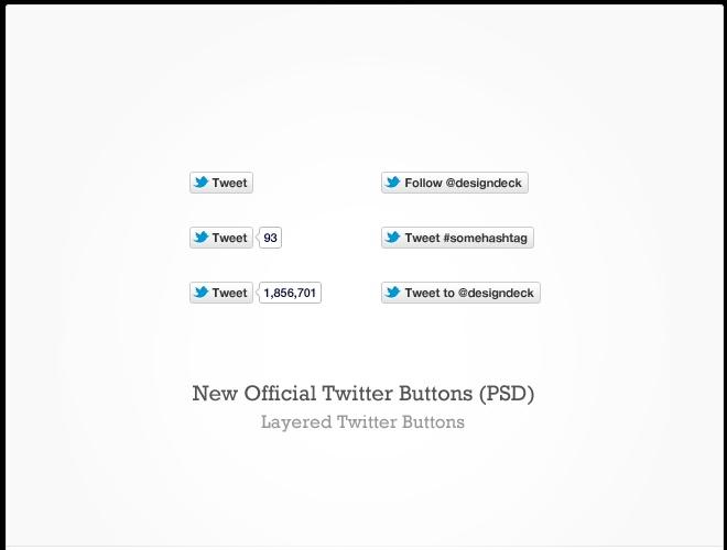 New Official Twitter Buttons (PSD)