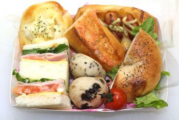 【ランチBOX】 滋賀県近江八幡市のパン屋「angerie Du levain(ブランジェリー デュ・ルヴァン) 」 ベーグル・食パン・オードブル