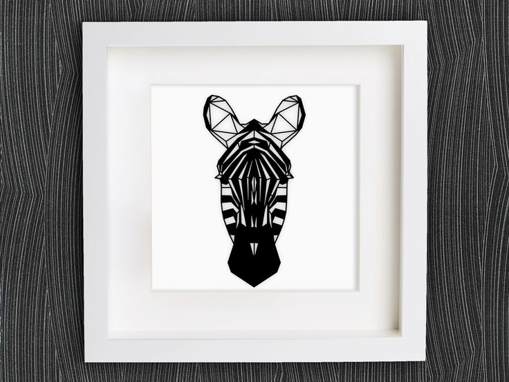 Customizable+Origami+Zebra+Head+by+mightynozzle.