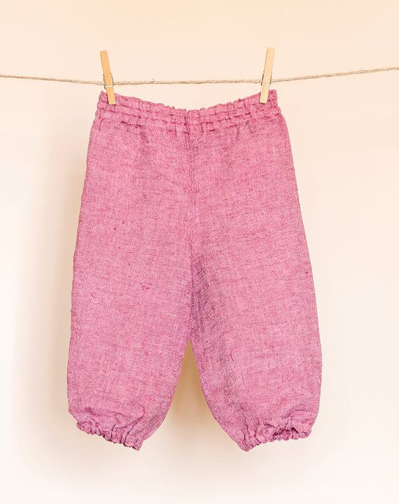 Baggy pants harem pants for children claret by TheElfShopDesigns