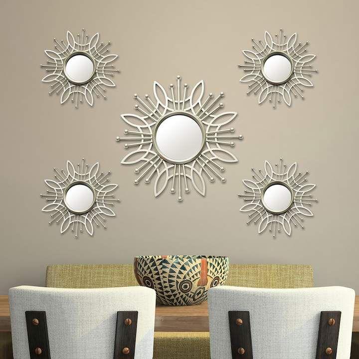 Stratton Home Decor Burst Wall Mirror 5-piece Set
