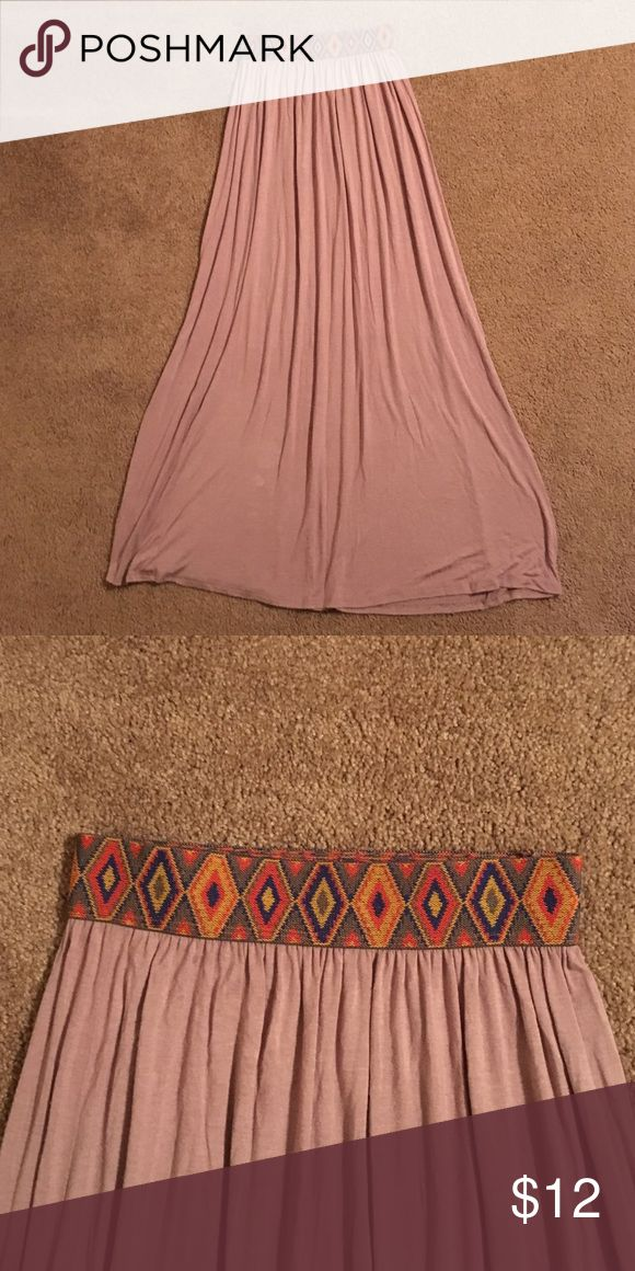 Tribal Maxi Skirt Never worn before!! Perfect condition. Elastic stretchy waist band. Skirts Maxi