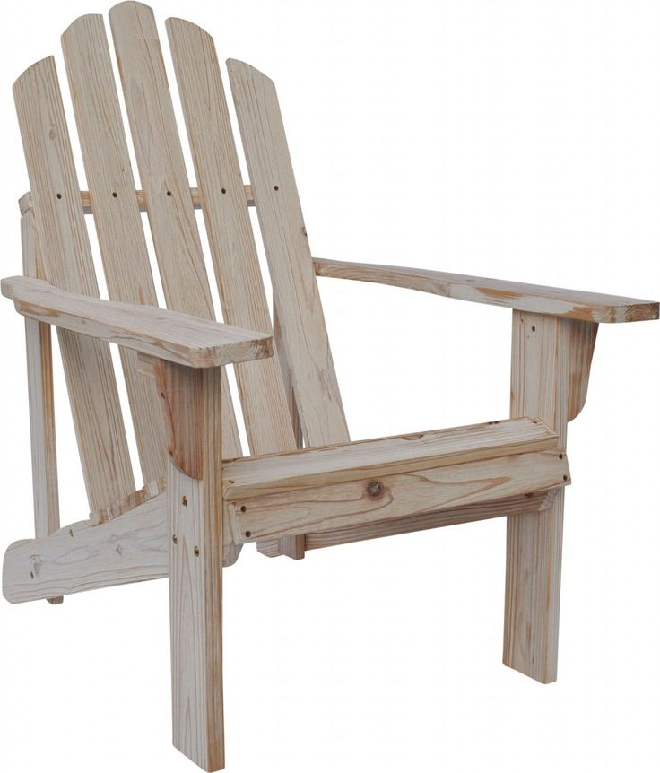 Shine Co Rustic Adirondack Chair in Distressed White Finish