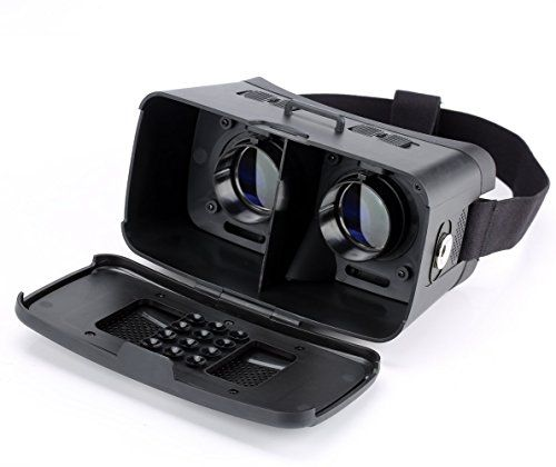 "cool Hausbell 3D Virtual Reality Headset Anti Blue Ray 3D VR Glasses Adjustable Cardboard Video Movie Game Box for Android Samsung S4/S5/S6/Note/ & iPhone other 4-5.7"" Smartphones, Black"