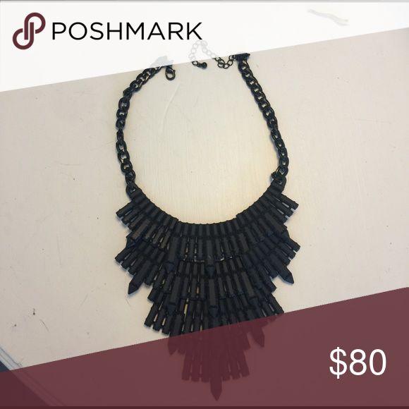 Matte black statement necklace! Matte black statement necklace with matte black chain. Jewelry Necklaces